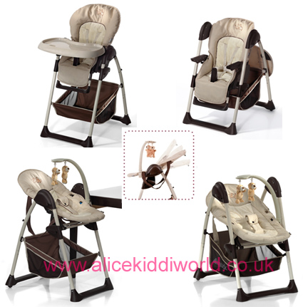 Brand New Hauck Sit N Relax 2 in 1 Highchair in Zoo Brown
