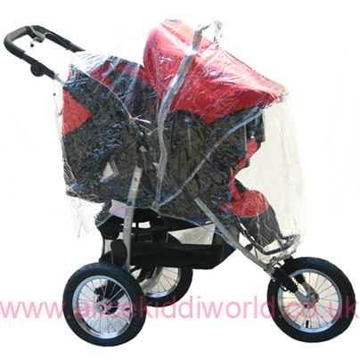 Universal Rain Cover for 3 wheeler and 4 wheel pushchair travel system